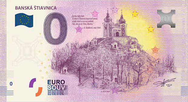 Najromantickejšie mesto na Slovensku má vlastnú 0-eurovú bankovku