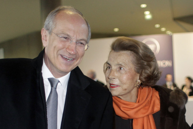 Liliane Bettencourtová a Jean-Paul Agon