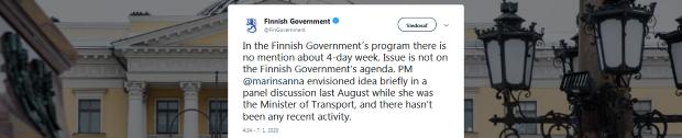 Nová premiérka hovorí o štvordennom pracovnom týždni