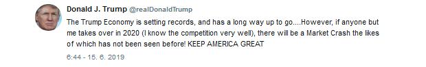 Trump:  Ak nebudem opätovne zvolený, trh čaká prepad aký ešte nezažil