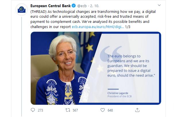 ECB si zaregistrovala digitálne euro ako ochrannú známku