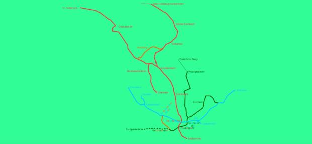 Vybrané trasy frankfurtskej U Bahn