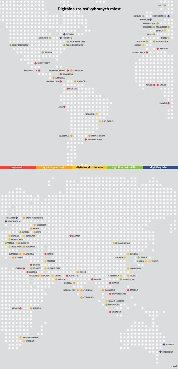 Mapa miest: Kde hotovosť stráca svoju popularitu a kde nie